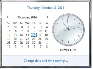 Change Date and Time Setting