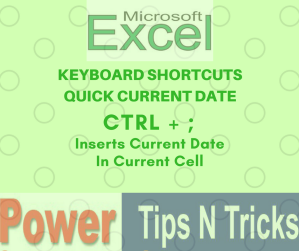Quick Current Date in Microsoft Excel