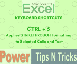 Excel Keyboard Shortcut